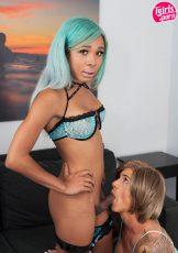 TGirlPorn Beach Babes Nina Lawless and Mara Nova